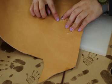 vegetable tanned leather young designers