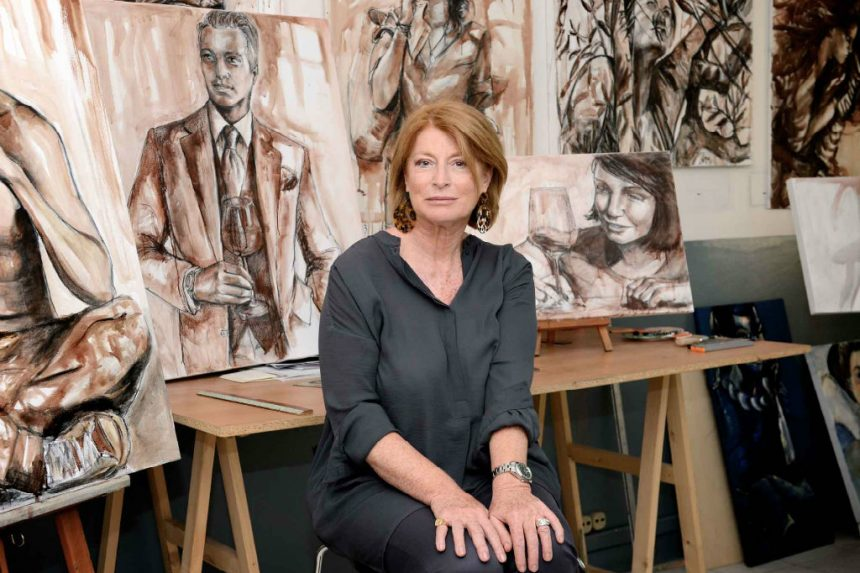 Elisabetta Rogai: the artist who paints with wine
