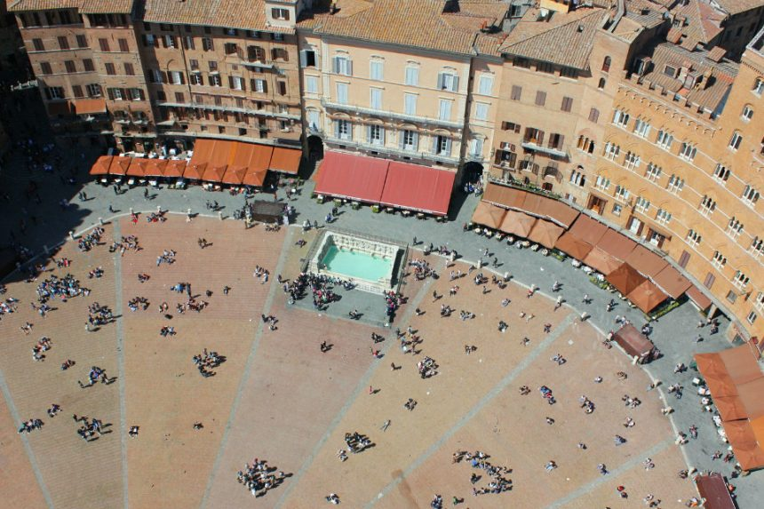 The historical centre of Siena and the engraved stones